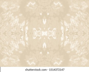 Ethnic Tie Dye. Cream Watercolor Silk. Space Dyed Fabric. Beige Shibori Design. Seamless Floral Motif. Asian Ikat Weave. Sand Geo Tile. Off White Texture. Natural Linen Ornament.