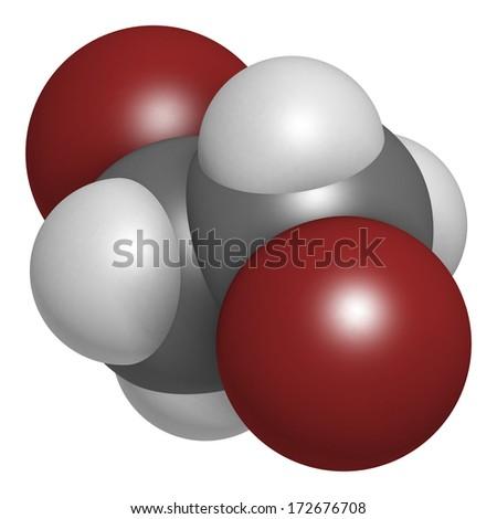 Ethylene Dibromide EDB 12 Dibromoethane Fumigant Molecule Stock