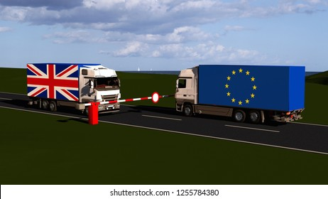 EU internal market according to Brexit / 3D render
