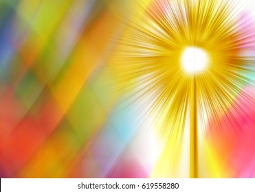 Eucharist monstrance for adoration of the Blessed Sacrament of the Altar. Abstract artistic blur modern background with copy space for text.