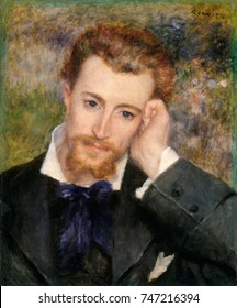 Eugene Murer, by Auguste Renoir, 1877, French impressionist painting, oil on canvas. Murer was an artist, pastry cook, novelist, poet, and collector of Impressionist paintings
