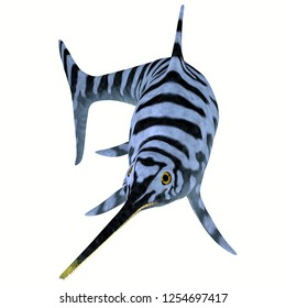 Eurhinosaurus Ichthyosaur Stripped Pattern 3D illustration - Eurhinosaurus was a carnivorous Ichthyosaur reptile that lived in Europe during the Jurassic Period.