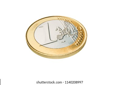 euro coin isolated on white background 3d illustration