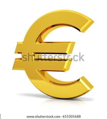 Euro Sign 3 D Euro Symbol Stock Illustration Royalty Free Stock