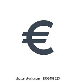 Euro Sign related glyph icon. Isolated on white background. illustration.