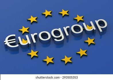 Eurogroup concept isolated on white background