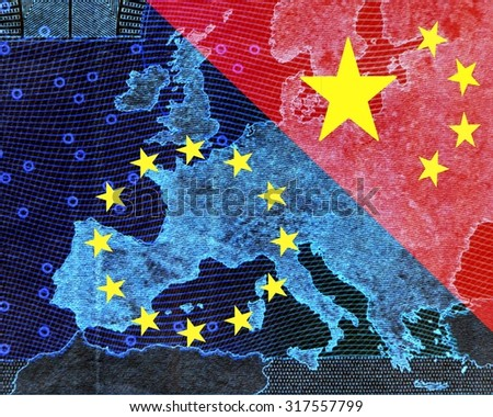 Map Of Europe And China.Royalty Free Stock Illustration Of Europe China Map Europe Shining