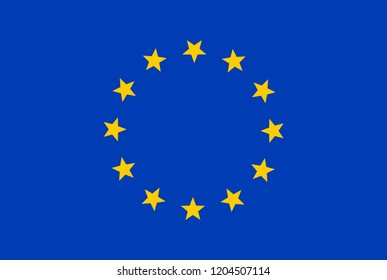 Europe flag EU isolated . European union flag sign.