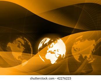 Europe map technology-style artwork