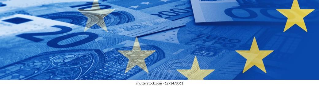 Europe and money illustration
