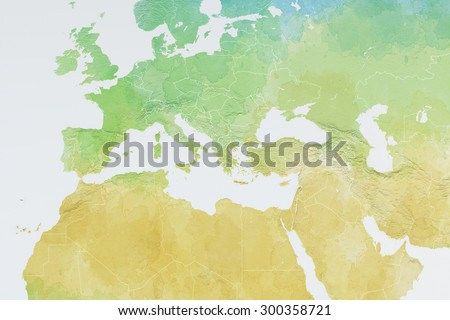 Royalty Free Stock Illustration of Europe North Africa Middle East ...