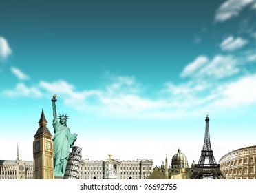 European holidays - travelling background. concept