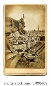 european landmarks vintage cards -Notre dame view