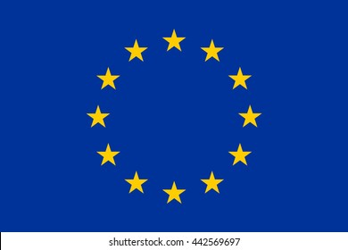 european union blue flag background