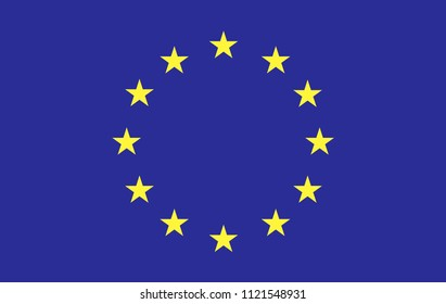 European union flag, official colors and proportion correctly. illustration. .