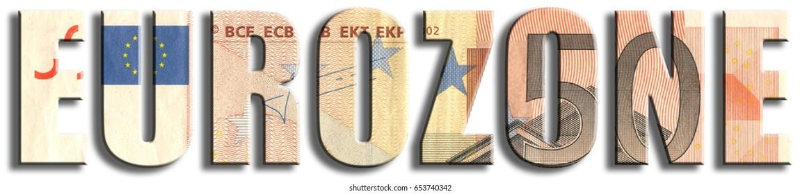 Eurozone. Euro banknote texture.