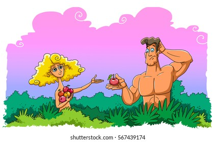 Eve took the fruit of the tree of knowledge of good and evil and then given to Adam