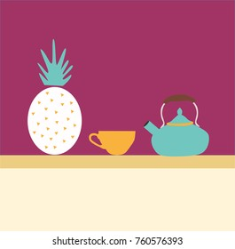 Evening tea with pineapple - Shutterstock ID 760576393