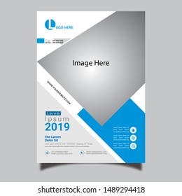Event Flyer Design Print Ready 300 DPI Blue Color Simple Creative Flyer 2019