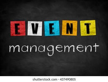 Event Management - chalkboard concept
