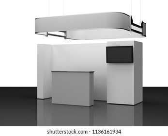 Event Promotion Stand, Booth. 3D rendering