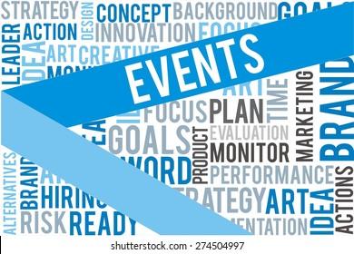 events word on cloud bubble speech stock illustration 280588634