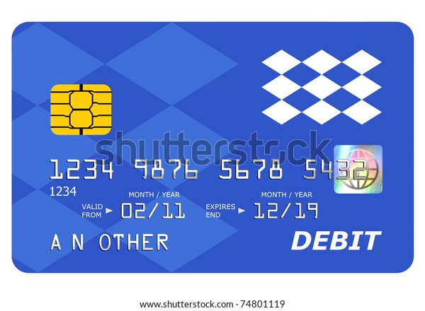 Everything On This Mock Debit Card Stock Illustration 74801119