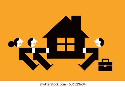 Eviction illustration.