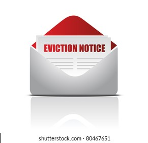 Eviction notice letter illustration design over white