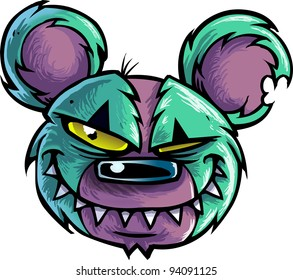 Evil Bear Head