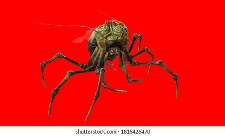 the evil bug 3d render