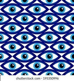 evil eye seamless pattern