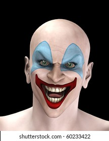 Evil looking clown for Halloween.