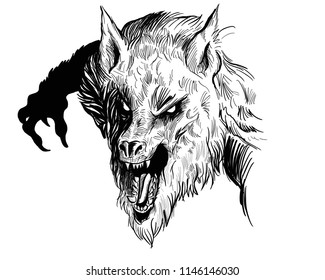 evil Werewolf illustration