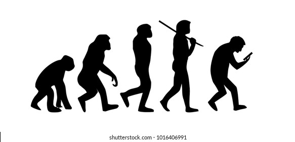 evolution of man to phone