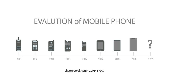 Evolution of mobile phone. Element of evolution illustration. Premium quality graphic design icon. Signs and symbols collection icon for websites, web design, mobile app