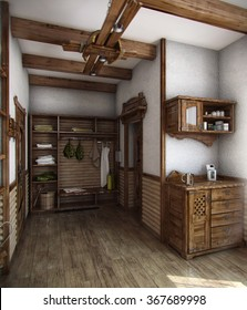 Example of country style, decorating. The purity of the lines, neutral colours and finishes with natural materials.