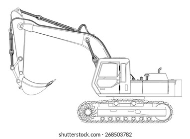 Digger Sketch Images, Stock Photos & Vectors   Shutterstock