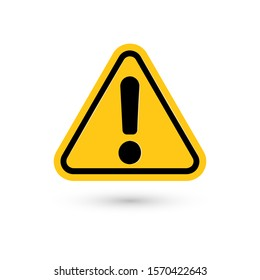 Exclamation mark. Attention web message. Danger sign. Modern abstract icon. Flat infographic element, template for the design. illustration