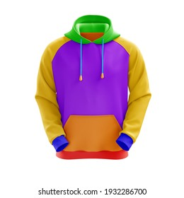 Exclusive Mockups Color Sweatshirt for Branding white background 3D rendering