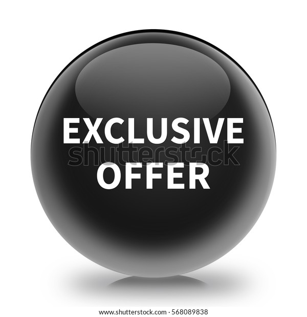 exclusive offer button isolated. 3D illustration