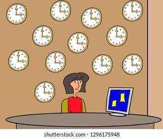 An executive assistant is obsessed by one deadline