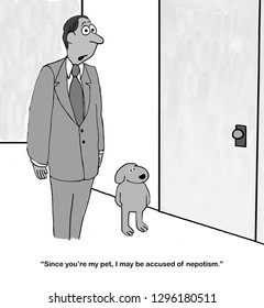 Executive is worried that hiring his dog will backfire
