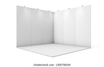 exhibition booth 3d rendering isolated mockup