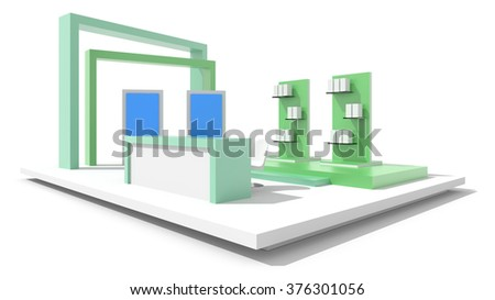 Exhibition Booth Floor Plan : Royalty free stock illustration of exhibition booth isolated on