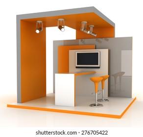 Exhibition kiosk, original three dimensional models.
