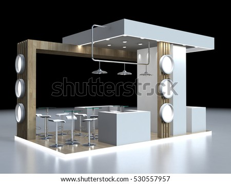 Exhibition Stand Free D Model : Royalty free stock illustration of exhibition stand 3 d rendering
