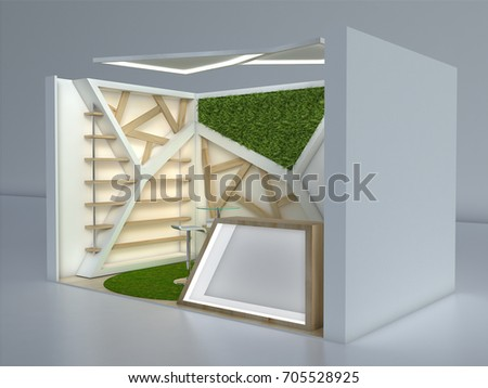 Small Exhibition Stand : Royalty free stock illustration of exhibition stand d small view