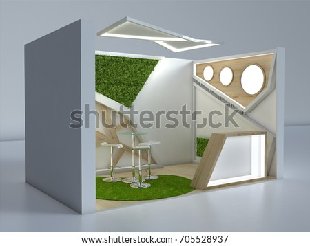 Small Exhibition Stand : Exhibition stand d small view stock illustration royalty