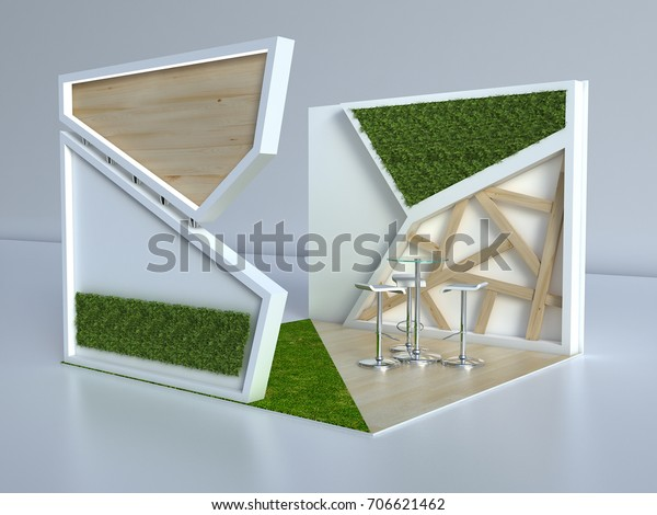 Small Exhibition Stands : Exhibition stand d small wood grass stock illustration